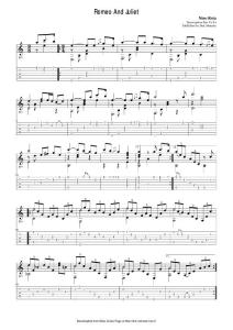 电影《罗密欧与朱丽叶》主题曲吉他独奏谱