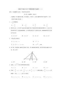 2009年临沂市中考模拟试卷..