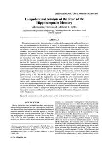 A computational analysis of the role of the hippocampus in memory
