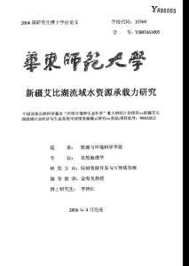 新疆资源承载力问题研究