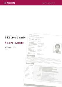 PTE Academic Score GuidePTE学术英语考试的评分指南