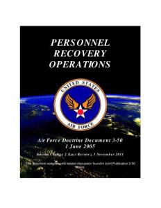 PERSONNEL RECOVERY OPERATIONS - Federation of 恢复操作人员联合会