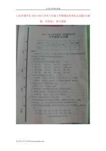 [精品考試卷]山東省鄒平縣2012-2013學年八年級語文下學期期末統考試題