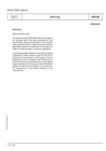 MAN 船舶柴油机 L23/30H 备件手册 原厂