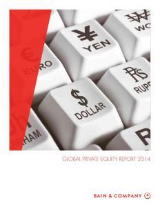 贝恩咨询 历年私募Private equity投资研究报告