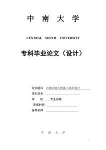 中南大学毕业论文精选