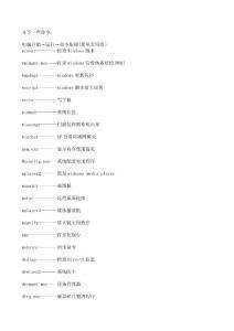 电脑开始→运行→命令集锦(简单常用的)