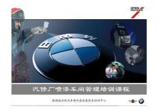 BMW涂装车间管理培训(油..
