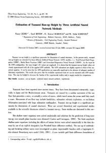 Estimation of Tsunami R..