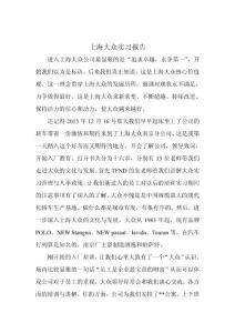 上海大众实习报告
