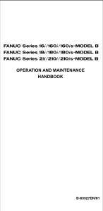 fanuc 16i 18i 21i OPERATION AND MAINTENANCE HANDBOOK B-63527E-1