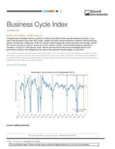 Business Cycle Index - Russell Investments:商业周期指数-罗素投资公司