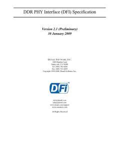 DDR PHY Interface (DFI) Specification - Fudan University:DDR PHY接口(DFI)规范-复旦大学