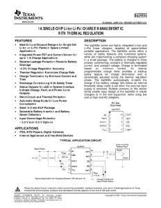 1A Single-Chip Li-IonLi-Pol Charge Management IC With :1A的單芯片里ionli Pol充電管理IC