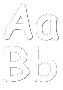 26字母大小写空心