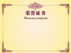 荣誉证书背景模板(可编辑内容)