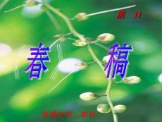 2012语文七上《春》ppt说课..