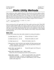 HO37 StaticMethods